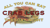 All You Can Eat Crab Legs Tuesday Night